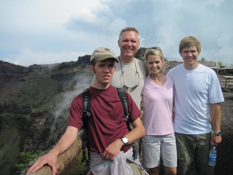 At the mouth of Vesuvius! - Naples