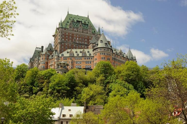 Chateau Frontenac in spring, Old Quebec City - Quebec City