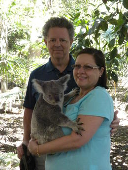 Photo of Brisbane Lone Pine Koala Sanctuary Admission with Brisbane River Cruise Cuddling a Koala.