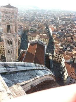 Photo of Giotto's Tower taken from the top of the Florence Duomo , Michael L - November 2014