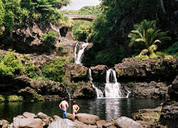 Photo of Oahu Maui Day Trip: Haleakala, Iao Valley, Old Lahaina from Oahu Hana waterfall, Maui