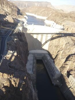 Flying over Hoover Dam on the way back from the Grand Canyon , Shirley.daniel56 - November 2013