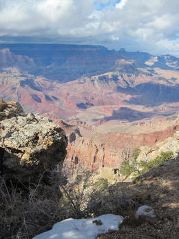 Rain showers move cross the canyon. , James W - February 2013
