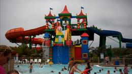 Check out this Lego-themed castle and water slides at Legoland Water Park in San Diego, California! - July 2011