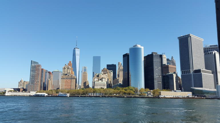 Manhattan Skyline from the cruise