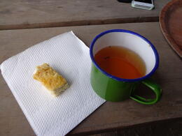 My tea and damper, lunch was later. , Bridget F - October 2013