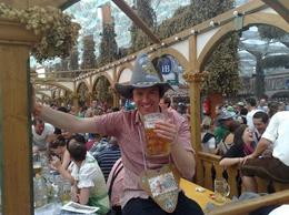 Enjoying a beer in a silly hat - July 2010