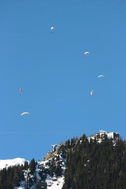 Photo of Geneva Chamonix and Mont Blanc Paragliders over the mountains