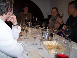 Enjoying the wine tasting , cazzen - November 2011