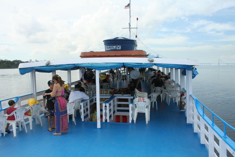 Tour boar boat observation deck - Manaus