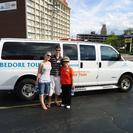 <p>This is our amazing guide, Martha and our tour bus.</p>