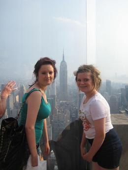 My two daughters enjoying the view from the Top of the Rock overlooking the Empire State Building, Jane E - June 2010