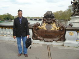 I was on the Alexandre III bridge in Paris , Vinayen C - May 2013