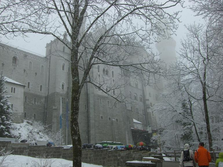 Approaching Neuschwanstein Castle in the snow - Munich