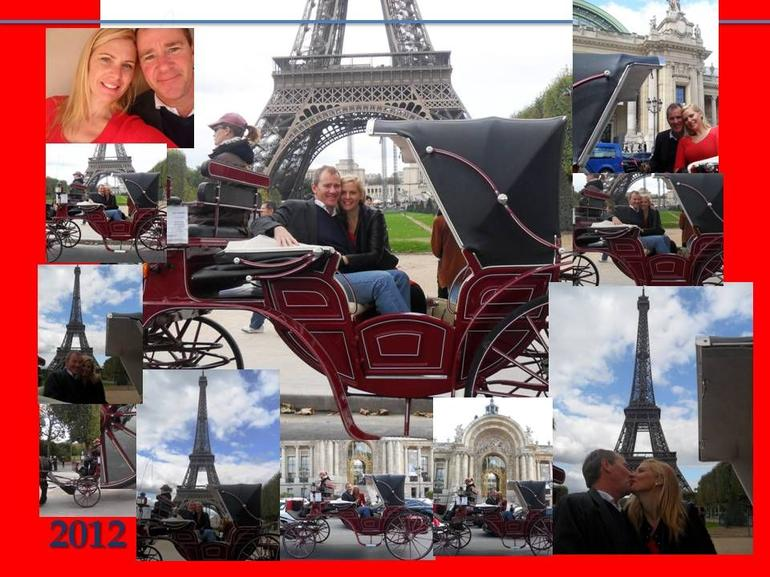 Champagne Romance on the horse and carriage around the eiffel tower Sept 2 - Paris
