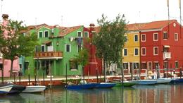 Photo of Venice Murano, Burano and Torcello Half-Day Sightseeing Tour Colourful fishing village of Burano as you enter port
