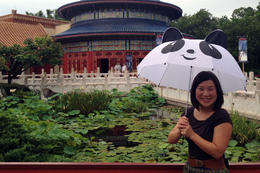 In and quot;China and quot; with an awesome panda umbrella! , Jules & Brock - July 2012