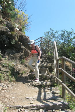 Coming down the trail into Vernazzo. , Karen D - June 2016