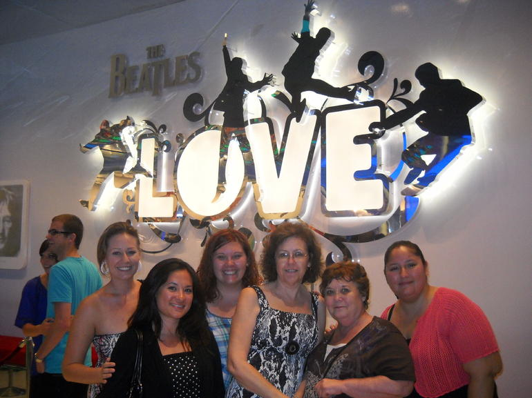 LOVE by Cirque du Soleil. Our group that went to the show!