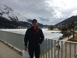 view of the lake in st moritz , John D - April 2012