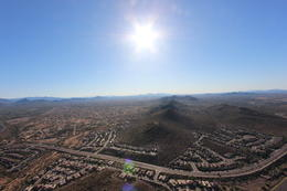 Flying over Phoenix, Bandit - October 2013