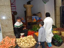 Photo of Costa del Sol Tangier, Morocco Day Trip from Costa del Sol Produce for Sale in Open Market on Walking Tour