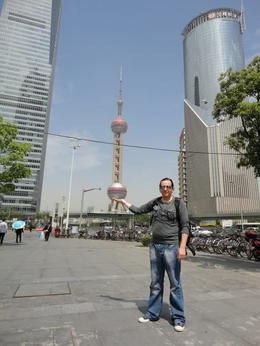 Pudong in the palm of my hand - July 2014