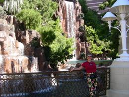 This is a beautiful waterfall outside the Wynn - lots of photo ops!, Keli S - November 2007