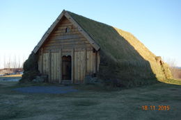 Cutting the grass with a lawnmower would be a real challenge. Though a replica church, this shows how people built their homes to survive the harsh environment , Nicholas R - November 2015