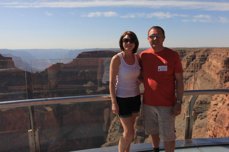 Yvonne and Rob Regan UK Sky Walk May 2013 - Las Vegas