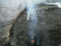 Photo of Big Island of Hawaii Fire and Falls Helicopter Adventure from Hilo crater view