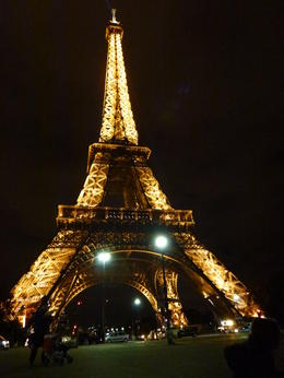 The Eiffel Tower by night. Truly a beautiful and emotional sight. , Lyn H - January 2012