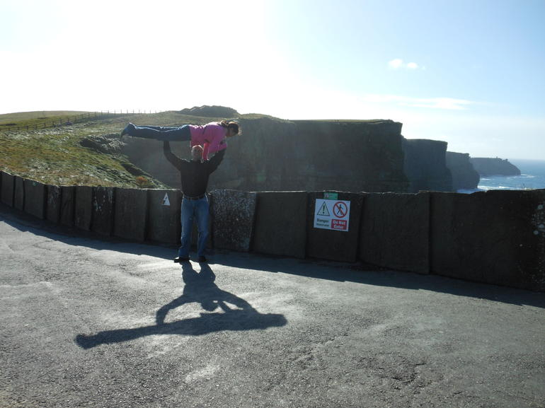 Going upstairs at the Cliffs of Moher - Dublin