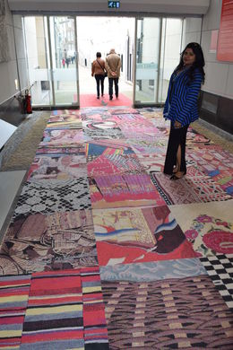 In the museum on the carpet depicting various countries like Denmark, Canada, India..... , RAHUL S - May 2015