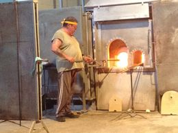 Making a vase in a glass factory , DMITRIY Y - August 2015