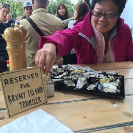 Fresh oyster tasting at Get Shucked Oyster Farm , cutiesealion - April 2016