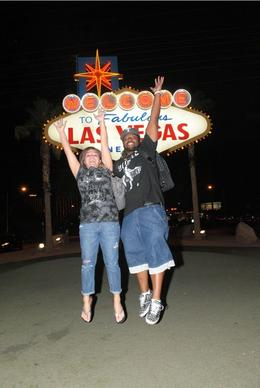 In front of the Las Vegas sign-(Jumping for Joy!) , Tiffany W - October 2011