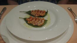 Dinner in Sorrento, shrimp in lemon leaf...to die for! , Deb - September 2011