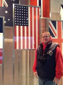 Rick showing his pride for his grandfathers serving in WWII and being at Normandy. This was such an emotional day for him. , Michelle M - January 2014