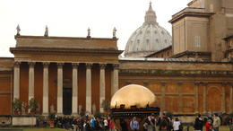and quot;Sphere Within Sphere and quot; (Sfera con Sfera) by Arnaldo Pomodoro at Vatican Museum , RAHUL S - April 2013