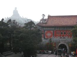 Tian Tan Buddha Statue as seen from the Po Lin Monastery., Tara L - January 2010