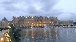 A view of the side of the chateau de Versailles , James F - August 2013