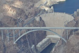 Photo of   View of the Hoover Dam from the Cessna