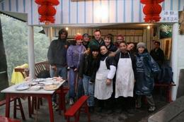 Photo op with the wonderful people who made our meal! - June 2012