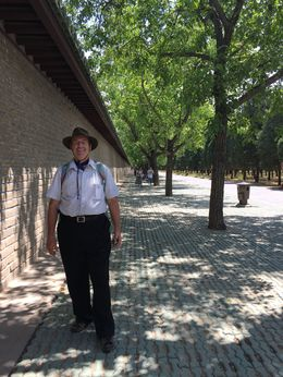 My guide, Cris, took a picture of me walking along at the Temple of Heaven , John J H - June 2015