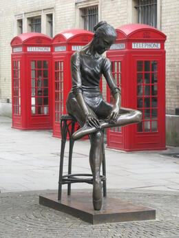 Rather appropriately this delightful ballerina sculpture by Plazzotta, is opposite where The Royal Ballet perform at The Royal Opera House, Covent Garden. , London Expert: Gavin - March 2011