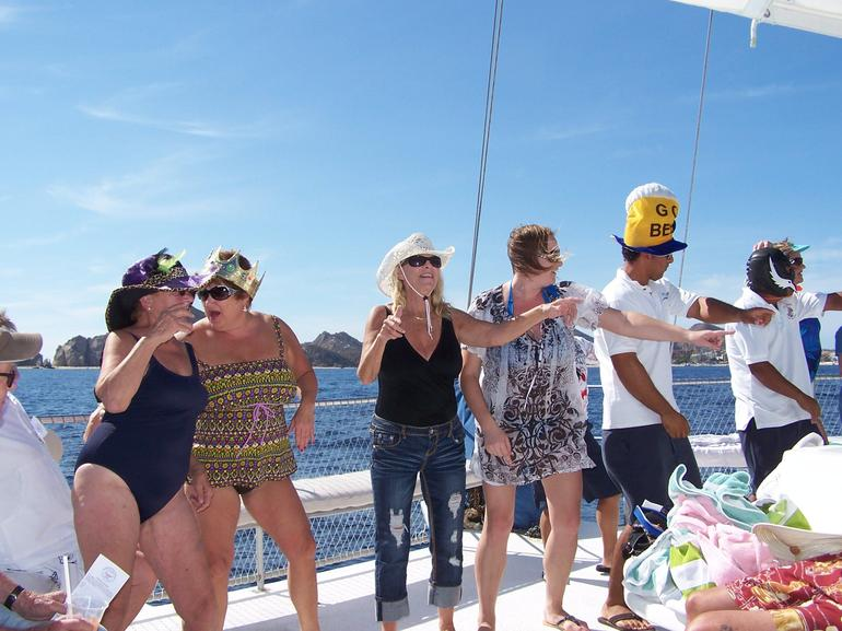 Dancing YMCA on our way back - Los Cabos