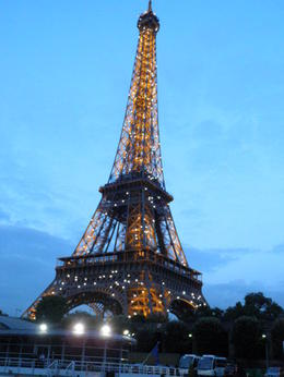 The Eiffel Tower at night takes on a romantic feel. Very special to finally come face to face with this icon of Paris. , Kim I - June 2011