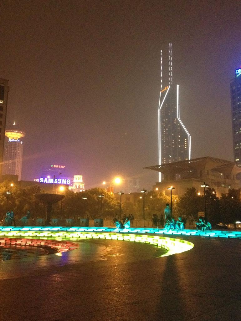 Fountain in front of the museum - Shanghai