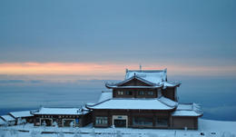 Gorgeous view of the temple atop the Emei Shan, on the Golden Summit - June 2012